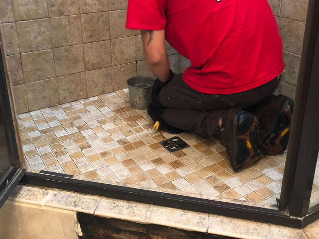 Our team can handle your shower tile restoration